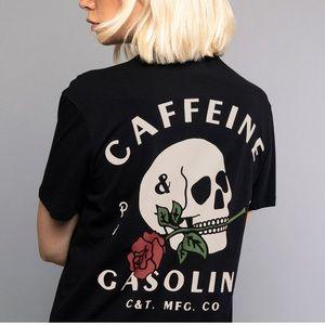 """NEW """"Caffeine & Gasoline"""" T-shirt ✖️ P&Co"""